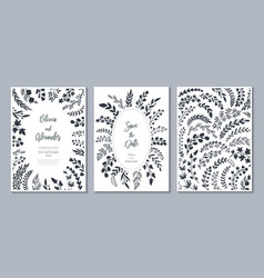 wedding collection templates vector image