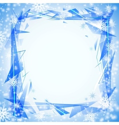 Blue background with cristals vector image