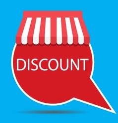 Discount sticker with awning vector image vector image