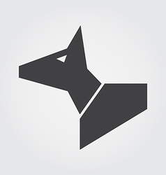 dog in symbol style vector image vector image