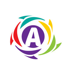 initial a icon vector image