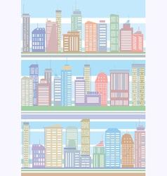 seamless buildings pattern vector image