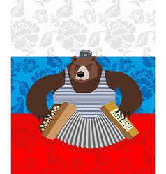 traditional bear Russia Russian pattern background vector image