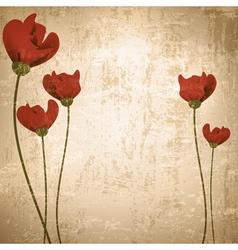 vintage grunge floral background vector image vector image