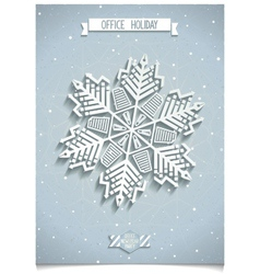White 3D office snowflake vector image vector image