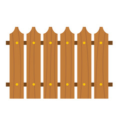 Wooden fence icon isolated vector