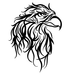bald eagle head sketch vector image