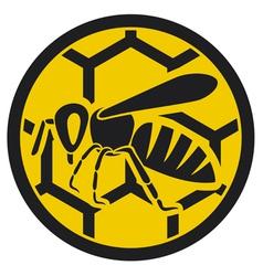 bee symbol vector image vector image