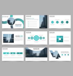 blue circle abstract presentation templates vector image