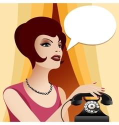 Calling Woman vector image vector image