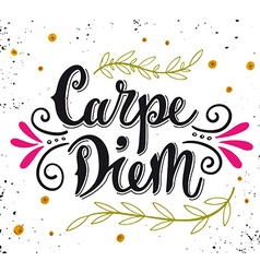 Carpe diem lat seize the day Quote Hand drawn vector image