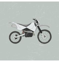 Enduro bike motocross vector image