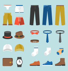 male clothes fashion underpants vector image vector image