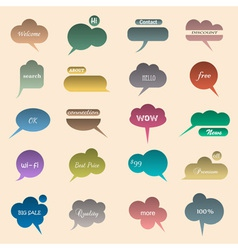 Collection of various bubbles for speech vector image