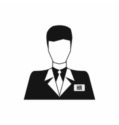 HR manager icon simple style vector image