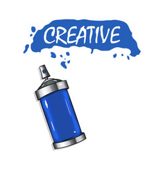 logo sprays with blue paint vector image