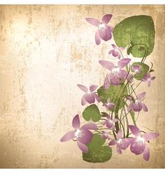 vintage grunge floral background vector image