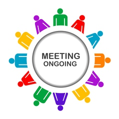 Colorful meeting ongoing icon vector image vector image