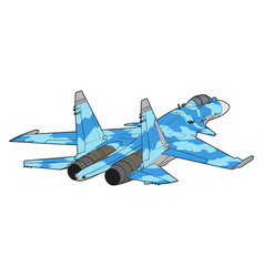 modern russian jet fighter aircraft vector image