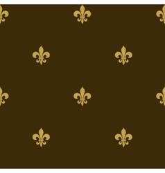 seamless fleur de lis background vector image