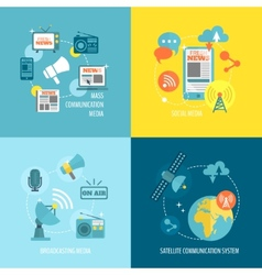 Set of media composition vector image
