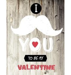 vintage valentines card design vector image vector image