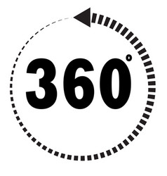 360 degrees icon on white background flat style vector