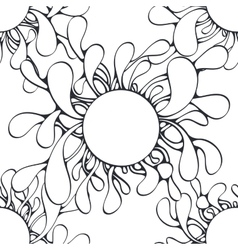 Abstract bio structure seamless pattern monochrome vector image