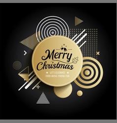 Abstract meryy christmas gold circle geometric vector