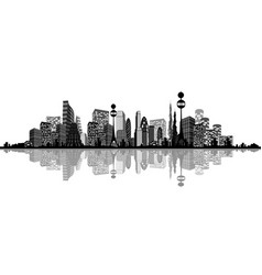 Abstract silhouette of city vector