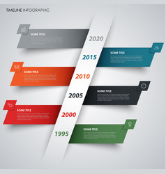 abstract time line info graphic with sloping vector image