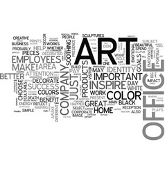 Art for the successful office text word cloud vector