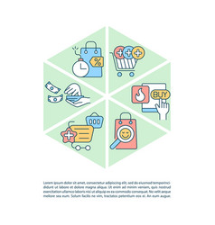 Avoiding consumerism concept line icons with text vector