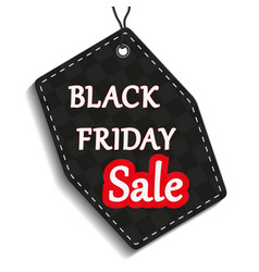 black friday label or price tag on white backgrou vector image