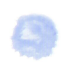 blue halftone spot vector image