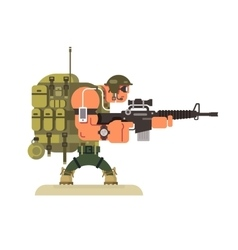 Character military peacekeeper vector