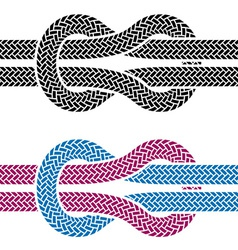 climbing rope knot symbols vector image