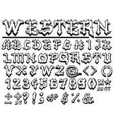 Complete font set vector