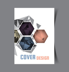 Cover design template vector