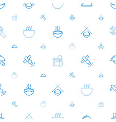 Dish icons pattern seamless white background vector
