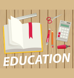 Education flat design concept for web and mobile vector