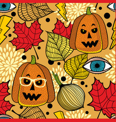 endless background for halloween party art vector image