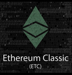 ethereum classic cryptocurrency background vector image