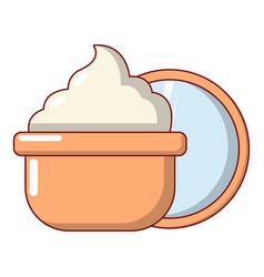 face cream icon cartoon style vector image