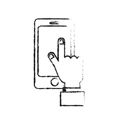 figure smartphone technology communication in the vector image