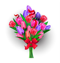Flowers bouquet womens day 8 march holiday vector