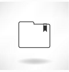 folder simple icon vector image