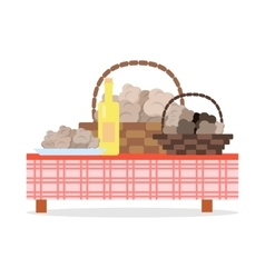 Fresh Harvest of Truffles Flat Concept vector