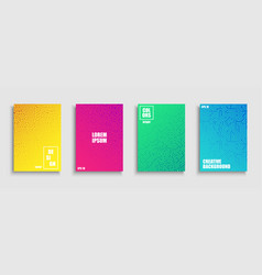 gradient colorful digital covers templates vector image