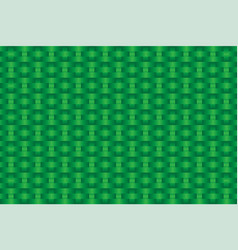 Green woven coconut leaves pattern vector